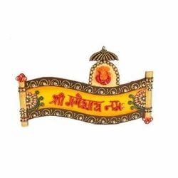 Printed Brown Decorative Ganesha Craft, For Decoration