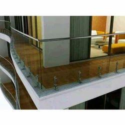 Silver Glass Balcony Grill
