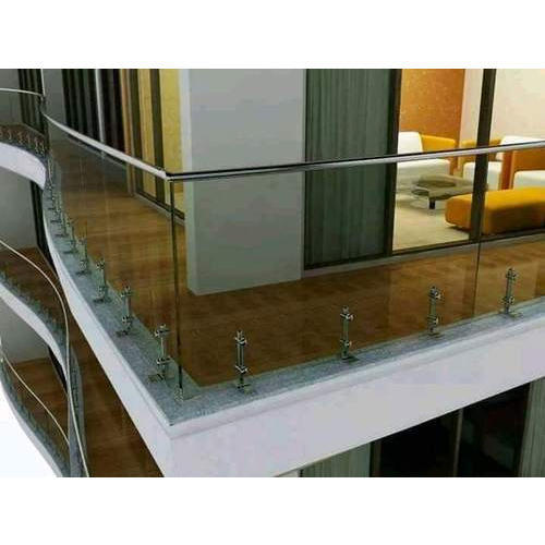 Silver Glass Balcony Grill Rs 900 Square Feet Madhav Stainless
