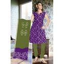 Lavender Bandhani Suit