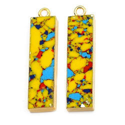 Multi Color Turquoise Electroplated Pendant