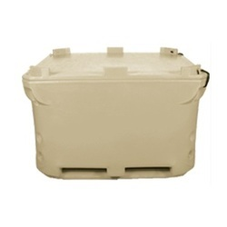 Beige 1000 Litre Roto-Moulded Insulated Shipping Box, Usage: Storage & Transport of Meat