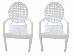 Universal Furniture White Set of 2 Cane Chair