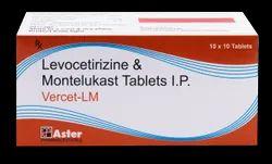 Levocetirizine Montelukast Sodium Tablets ( Vercet-LM Tablets)