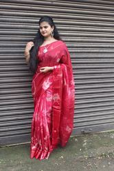 Red Wine Kota Cotton Saree