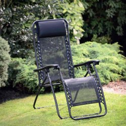 Black Modern Garden Relax Chair, Seating Capacity: 1 Person