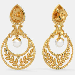 Gold Chand Bali Earrings