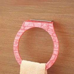 Round Acrylic Towel Hanger