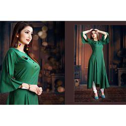 Green Ladies Long Kurti