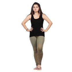 Be Wow Lycra Ladies Designer Legging, Size: Free Size