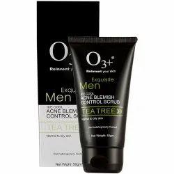 O3 Equisite Men Tea Tree Ice Cool Acne Blemish Control Scrub 50g