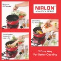 Nirlon Casserole 3L Aluminum Nonstick Cooking Pot, Biryani pans and pots kitchen Essential (CS24cm)
