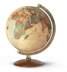 Illuminated Brass Wooden Design World Globe