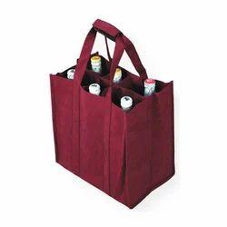 Maroon W Cut, Loop Handle Non Woven Bag, Size/Dimension: 14x18, Capacity: 2kg