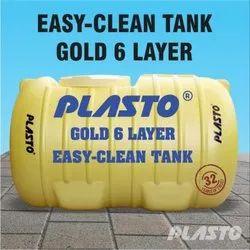 Plasto PVC Six Layer Water Storage Tank, Capacity: 500-1000 L
