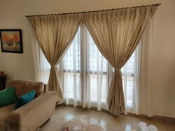 Cotton Beige Curtains for Door