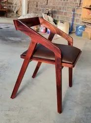 Brown Wooden Designer Chairs, Seating Capacity: 1