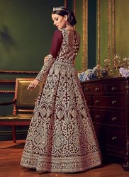 Indo Western Swagat Violet 5902 Wedding Gown, Size: Free