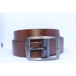 Pattern Brown Leather Belt 1