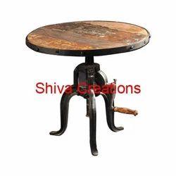 Shiva Creations Round Crank Table