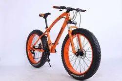 Orange Jaguar Fat Tyre Cycle