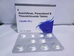 Aceclofenac 100mg  Paracetamol 325mg Thiocholchicoside 4mg