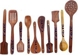 Cooking and Serving Spoon (Wooden, Set Of 10)