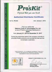 Pro'sKit Distributor Certificate