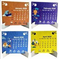 English Digital Printing Plantable Seed Paper Calendar