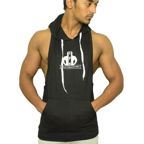 Top Guidelines For 2017 On Quick Methods In Fitness: Cotton Sinker Printed Deep Cut Tank Top Hoodie, Rs 200