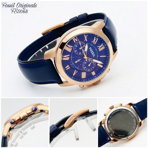 Male Leather Fossil Watches