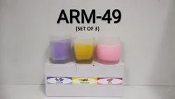 Arm-49 Glass Candle Perfumed (Set Of 3)