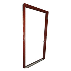 Red Steel Door Frame