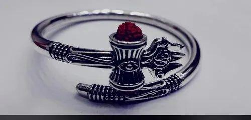 Damru Style Silver Ring