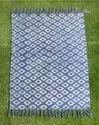 Hand Block Indigo Printed Dari Rugs