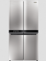 Light Grey Whirlpool W Series 4 Door 677 Ltrs Saturn Steel Refrigerator