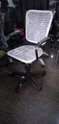 Primo White, Yellow Wire Revolving Chair -Superior MB, Size: Medium