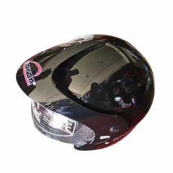 Aaron Black Motorcycle Helmet, Size: L