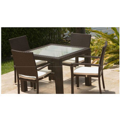 low priced b1dd7 cc072 4 Seater Wicker Square Dining Table