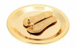 Gold Plated Lakshmi Charan Paduka