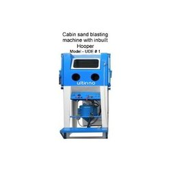 Cabin Sand Blasting Machine With Inbuilt Hopper