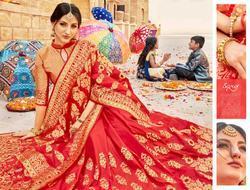 Saroj Satvika Series 92001-92006 Stylish Party Wear Banarasi Silk Saree