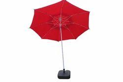 Garden Umbrella-8' Tiltable-Double Layer-T.Red