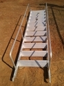Wall Support Ladder With Handrails