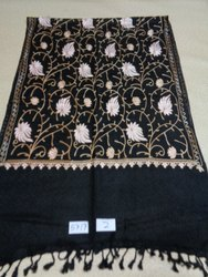 Viscose all over embroidered stoles