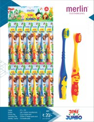 Merlin Jini and Jumbo Toothbrush for Kids