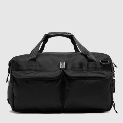 Black Nylon Sports Duffel Bag
