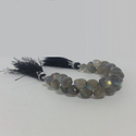 Natural Labradorite Onion Shaped Faceted Briolette Beads