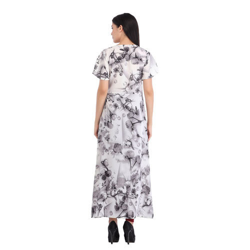 4423b90e3f0 Cottinfab Women  s Viscose Rayon Floral Printed Maxi Dress