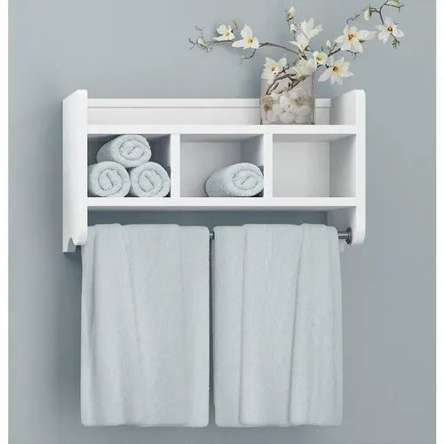 White Wooden Bathroom Wall Shelf Size 2x3 Feet Rs 5000 Unit Id 21723474412